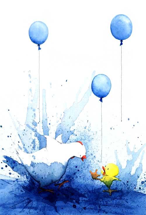 Blue Chicken's Book Birthday